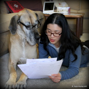 HY and honey discuss manuscript for Book 2