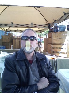 Scott made his first official Pringles duck lips for the season. He doesn't sit still well.