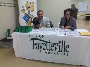 This little doxie was ready to run the show for the book the city set up. Woof, Woof!